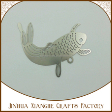 New arrival metal fish bookmark novelty metal embellishments bookmarks for books