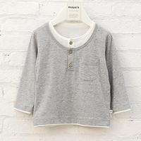 Wholesale comfortable grey light long sleeve blank kids t shirts
