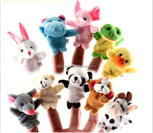 Factoty Custom Wholesale Cheap Dog Elephant Finger Puppets Plush Stuffed Toys