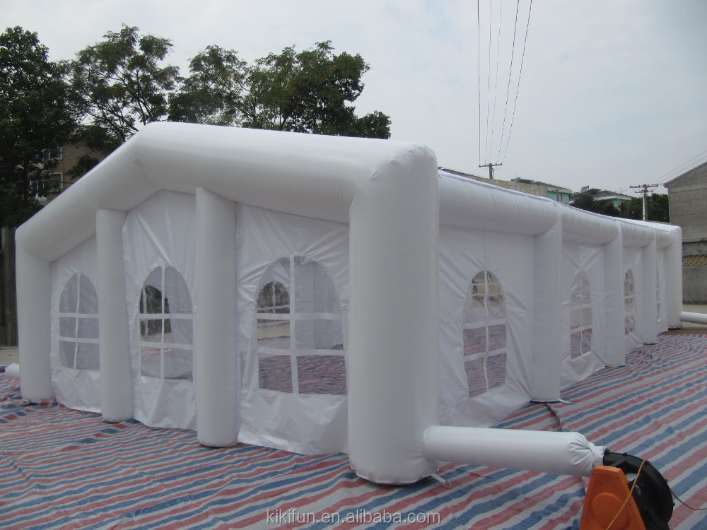 Giant service equipment outdoor white wedding tent ,cheap price inflatable party tent ,commercial inflatable clear tent for sale