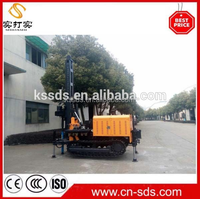 kw180 0~180m 180m borehole diesel engine water well drilling rig machine