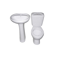 Best design china sanitary ware ceramic colored bathroom two piece toilet with basin
