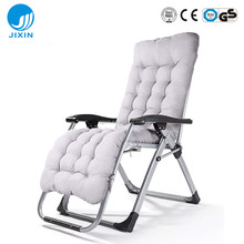 New arrival Steel tube folding reclining zero gravity beach chair with cushion