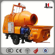 China Mixer Concrete Pump hot sale mini portable electric concrete mixer pump can self loading with 450L hopper 380V ISO9001