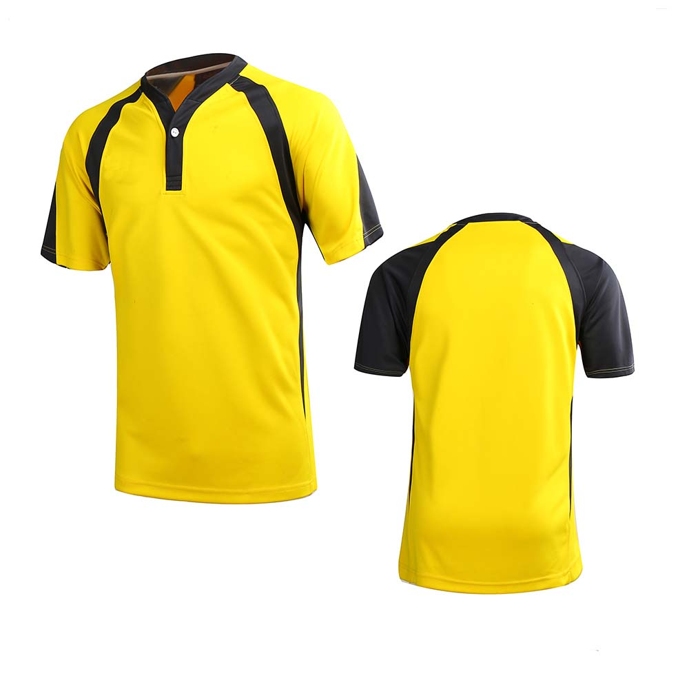 Custom yellow color mens rugby shirt