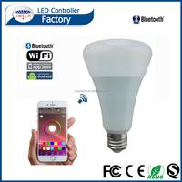 magic lighting led light bulb and remote 220v led bulb e27 bluetooth smart led bulb