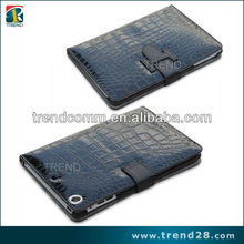 luxury Crocodile skin leather cases for ipad mini tablets