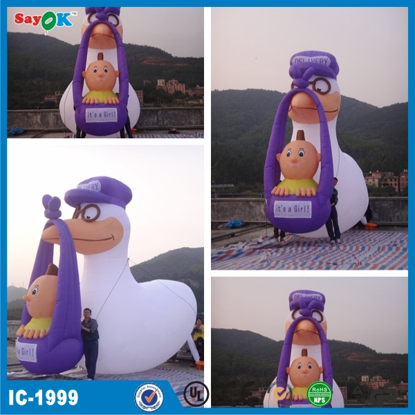 2014 Custom made lovely inflatable crane with little baby for sale