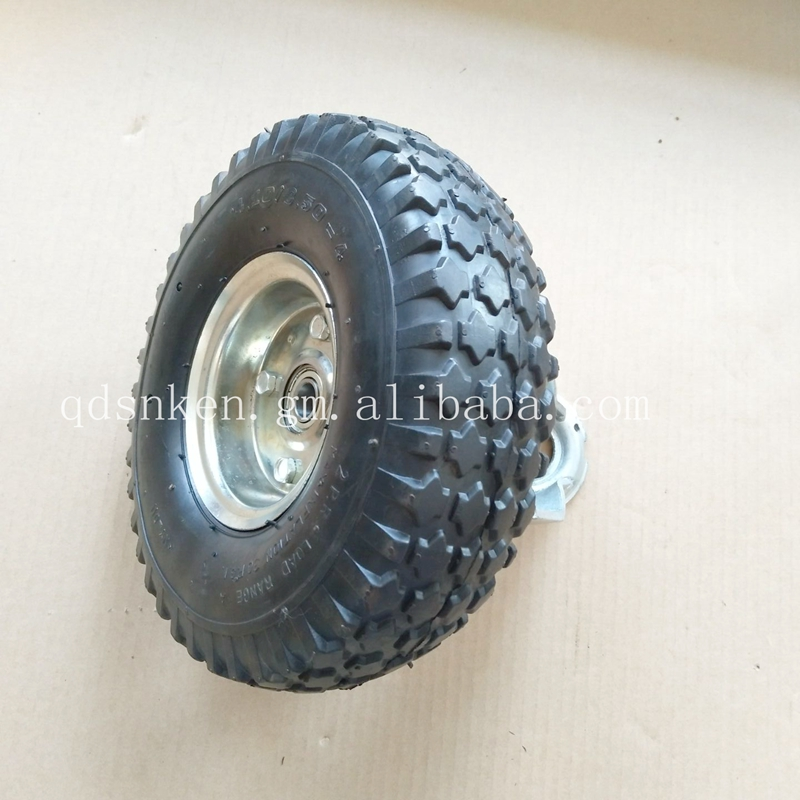 Alibaba Stock New Tires Rubber Outside PU Filled Trolley <strong>Wheel</strong>