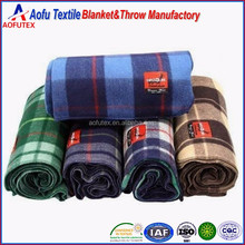 Shaoxing textile Factory China wholesale Indian Mexican fleece blankets cheap wholesale blankets Plaid Army Military Blanket