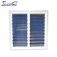 customized luxury design aluminum frame glass movable louvres jalousie window