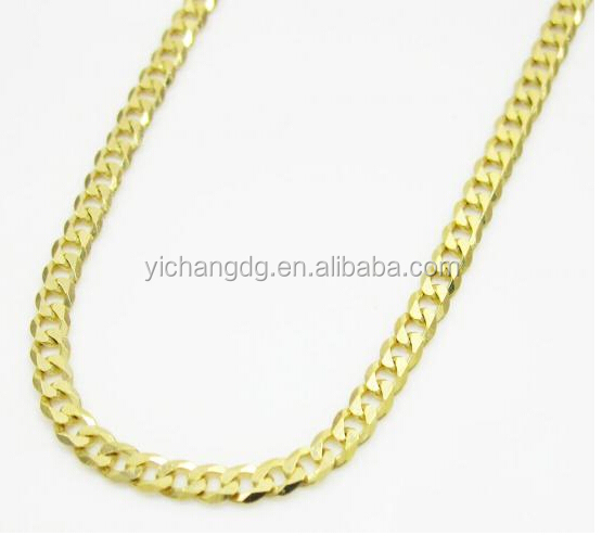 10k Yellow Gold Skinny Cuban Chain 24-26 Inch 2mm Stainless Steel Chain Jewelry Liquidation Sale