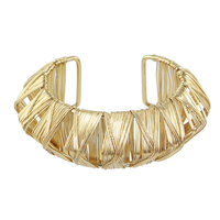 Punk Rock Style Gold Silver Big Cuff Geometric Bangles and Bracelets for Fashion Women