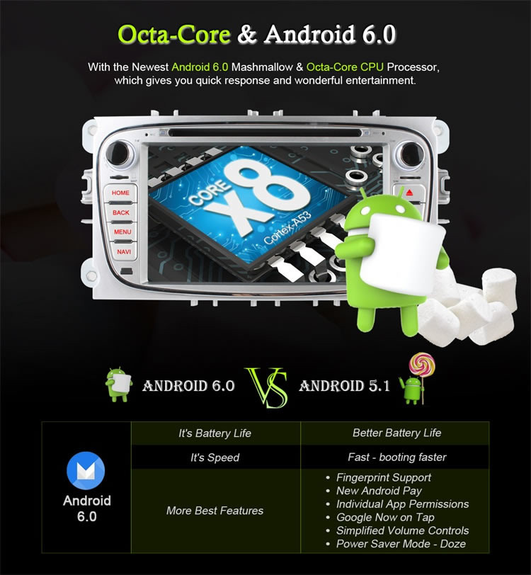 Ownice C500 Android 6.0 Octa core car radio for Ford Focus 2008 - 2011 C-Max support DVR TV 4G LTE DAB+ Tunner