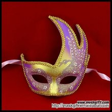 Sex carnival party halloween mask purple/gold wholesale