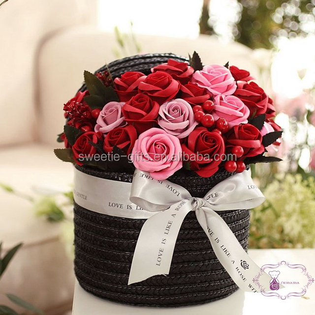 high quality hand made artificial soap flower for special 2018 Valentine Day <strong>Gift</strong> lover day <strong>gift</strong>