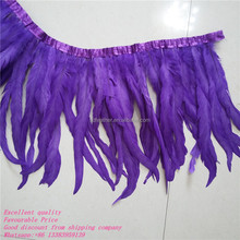 Popular 30-35cm cock feather fringe beautiful rooster feather trims