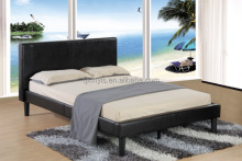 unique modern fashion design Leather Black Double bed