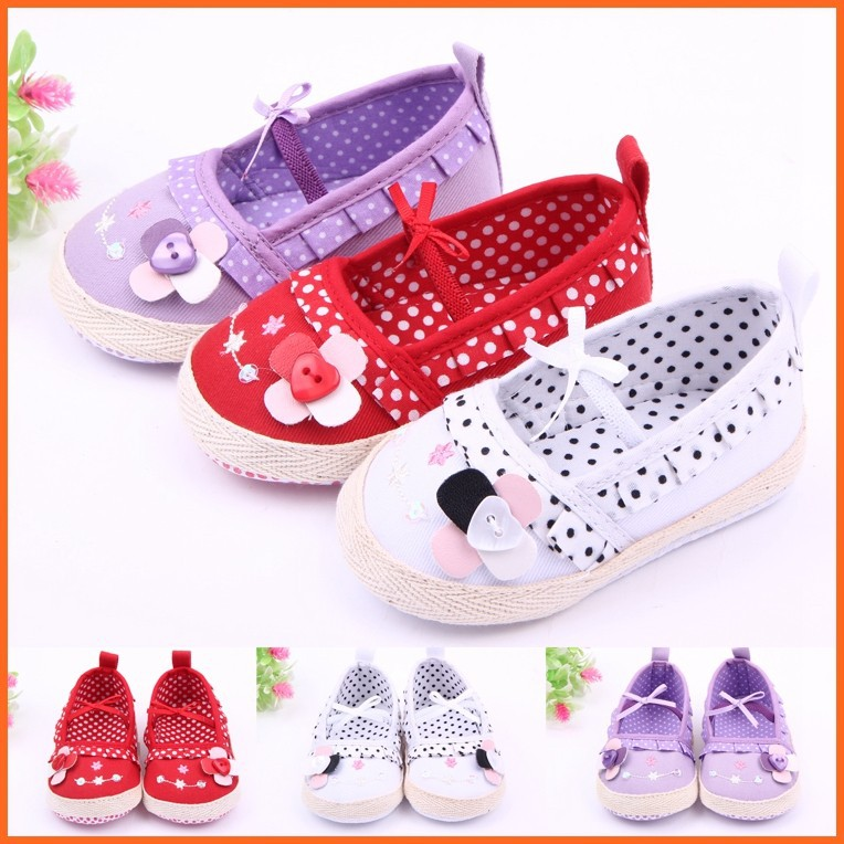 2017 Fashion Newborn Flower Design Beautiful Baby Girls Shoes