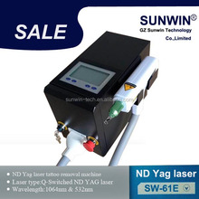 Home nd yag laser 1064 nm 532nm nd yag laser tattoo removal pigment removal freckle removal
