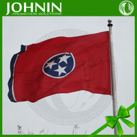red blue color printing factory directly sales cheap price flying tennessee flag