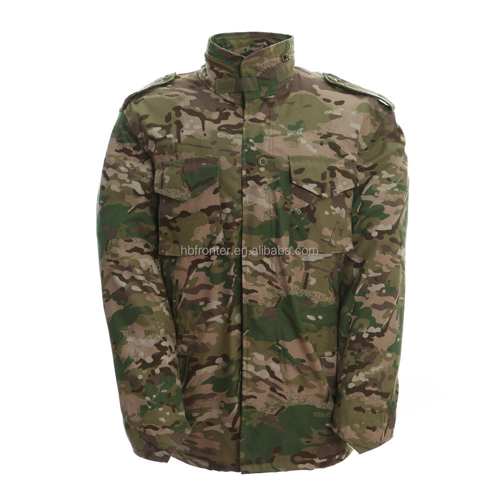 OEM multicam camo m65 military jacket men CP camouflage