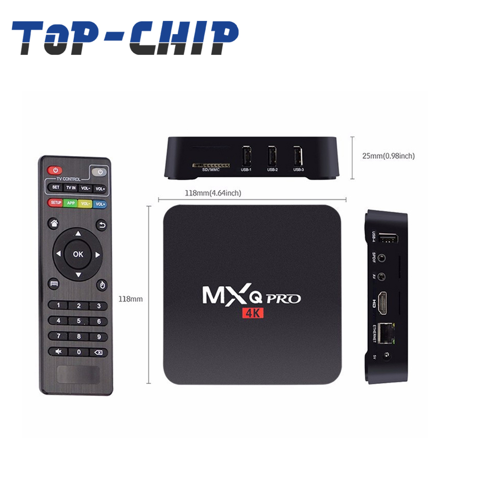 Absolutely cheap, 2G+8G quad core Amlogic, s905x android6.0, Android network TV box, mxqpro