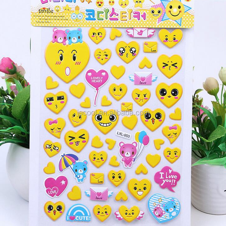 Large kiss emoji stickers happy cute emojis smiley giant stickers for girl kids gifts