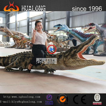 Amusement Park Animatronic Walking Crocodile Animal Model
