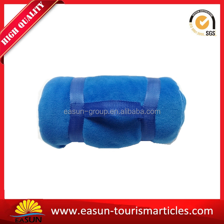 Travel or journey portable blanket with handle