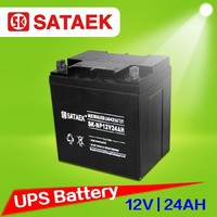 Lead acid battery supplier Top quality maintenance free ups solar battery 12v 24ah