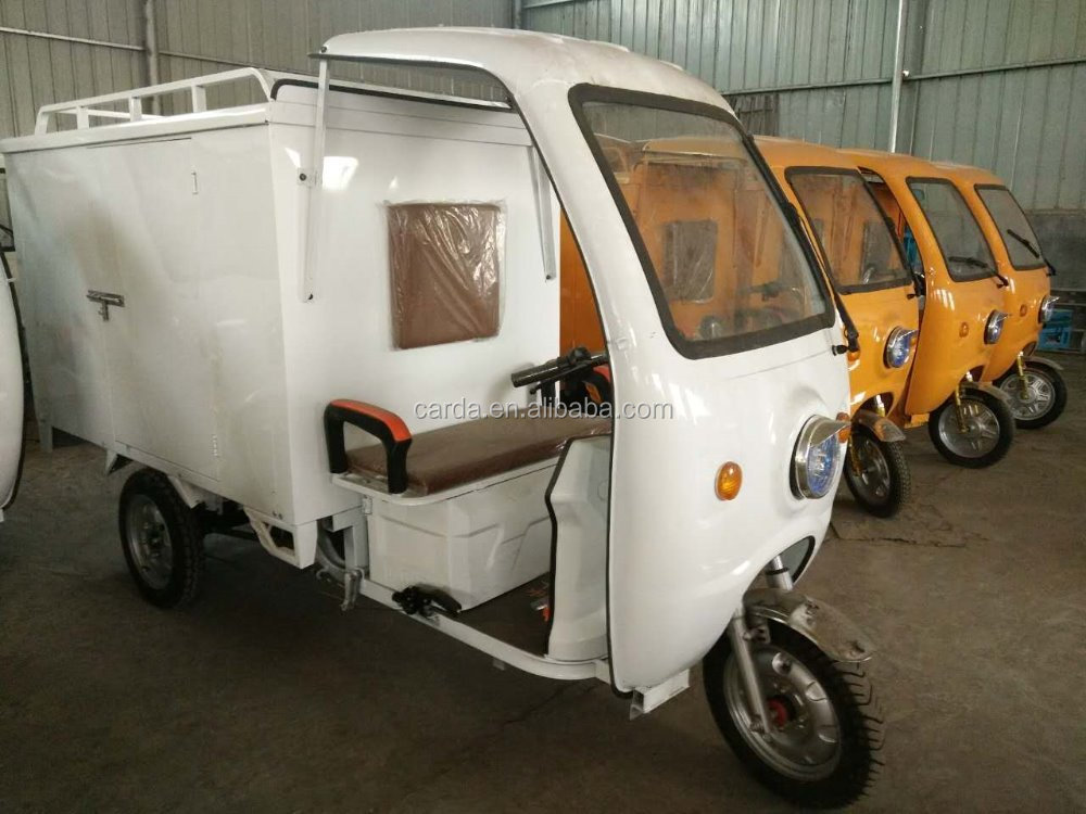 express electric power cargo tricycle with side door and closed box