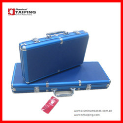 Aluminum Blue ABS Chip Cases Poker Chip Cases