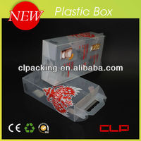 Custom Made High Quality clear plastic handles corrugated boxes