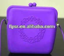 New!!! lady or girls fashion silicone handbag , candy color jelly silicone beach bag