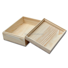 Vintage Style Natural Pine Wood Essential Oil Plain Box