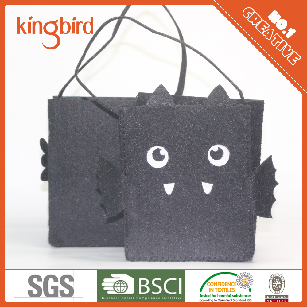 Halloween Craft Pumpkin Basket Felt Bucket Treat Bag - Buy ...