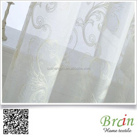 embroidered sheer voile curtain fabric embroidered net curtains