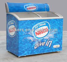 Ice cream display freezer,deep freezer.refrigerator with light box