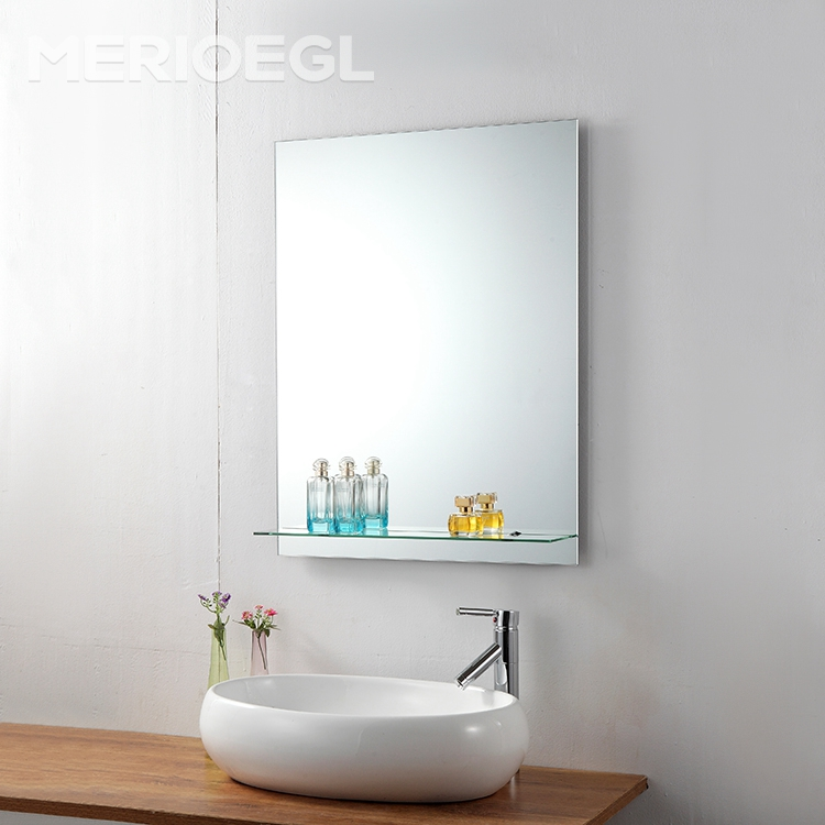 Rectangular decor wall bathroom mirror with shelf, beauty mirror, wall mirrors wholesale