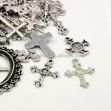 Assorted Tibetan Antique Silver Small Metal Crosses Wholesale (TIBEP-MSMC017-AS)