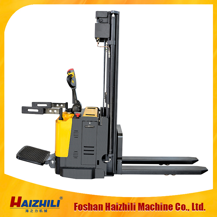 2016 cheap price Max lifting height 3.3m loading 1.5ton Battery Powered(DC/AC) electric stacker