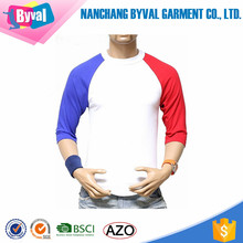 High Quality t-shirts Cotton Tops Wholesale Patchwork Plain Tee Mens Two tone t shirt Cheap Price in Bulk