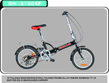 steel frame material folding bicycle 6 speed foldable bike china factory