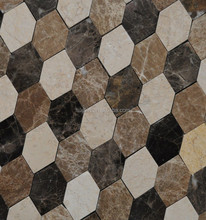 latest hot sale cheap well polished deep brown stone mosaic pattern designs