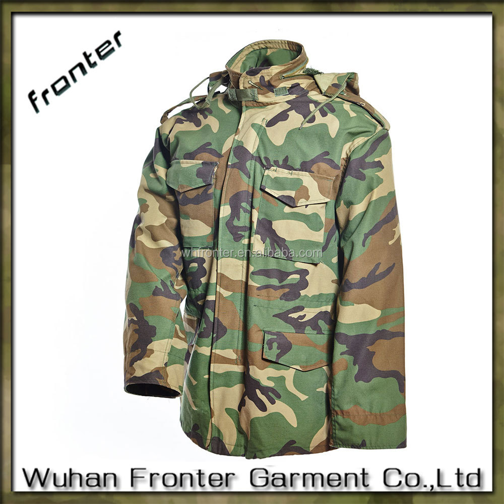 Waterproof woodland camo m65 jacket from China