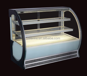 Top Counter Cake fridge/ Table Top glass display chiller