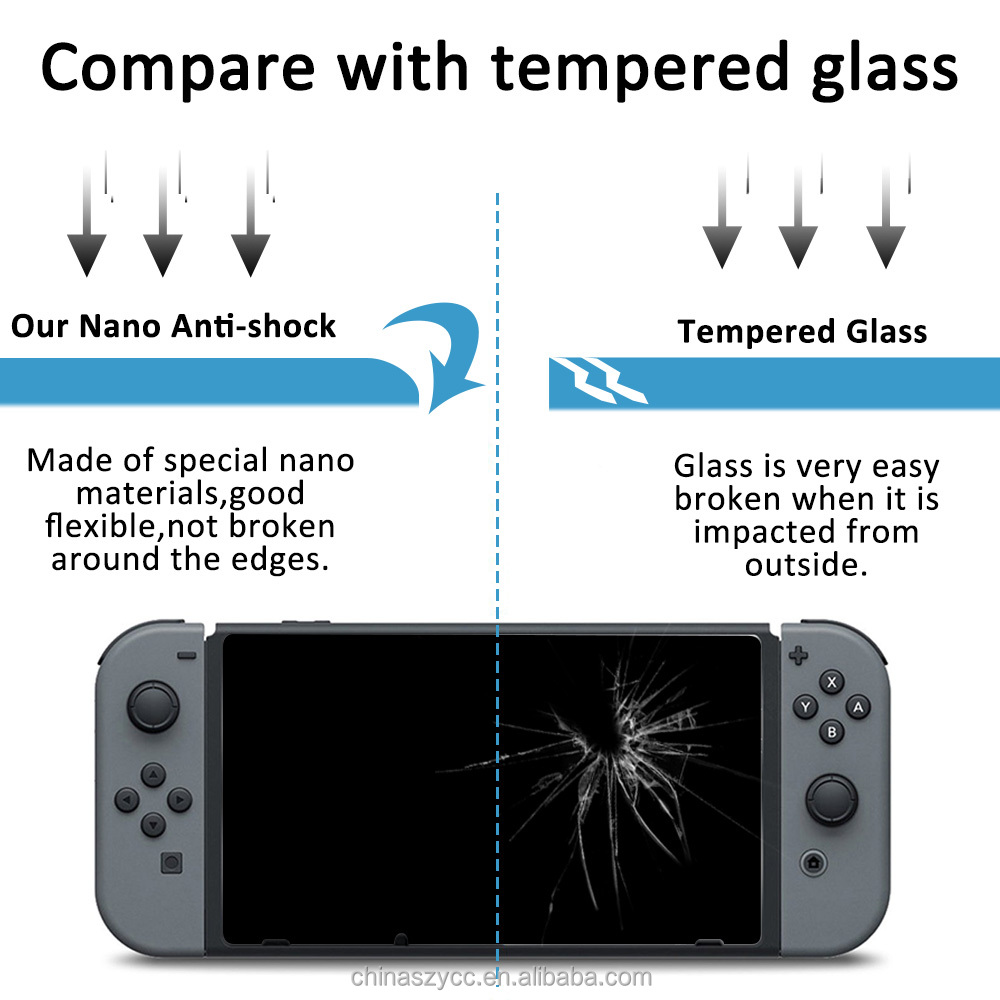 high Quality game player screen guard For Nintendo switch screen protector oem / odm Anti-Glare full cover film