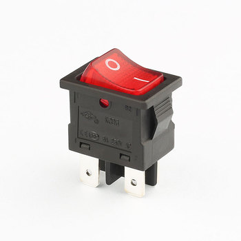 hot selling free sample 6a 250v dpst led  4 pin kcd6 rocker switch