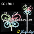 Colored rhinestone butterfly crown scepters